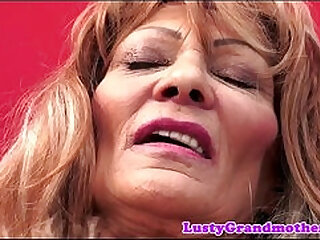 Saggy grandma doggystyled and jizzed in mouth