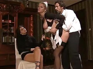 Maid fucked by husband
