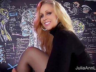 Sexy busty Milf Julia Ann Sweater Strip Tease Solo!