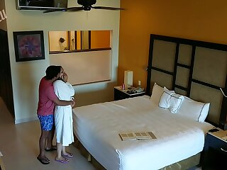 Young amateur girl molested, forced to fuck and creampied against her will by hotel room intruder spy cam POV Indian