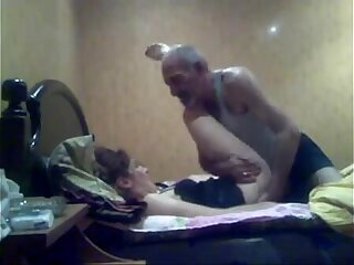 ARAB OLD MAN with her Office Colleuge